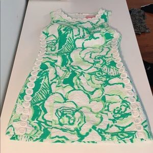 Lilly Pulitzer Green Lace Floral Print Dress